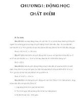 CHƯƠNG I: ĐỘNG HỌC CHẤT ĐIỂM docx