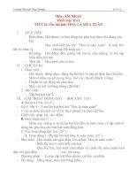 Giáo án âm nhạc lớp 2: Ôn bài hát: HOA LÁ MÙA XUÂN docx
