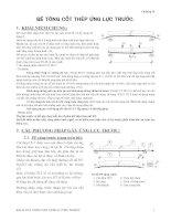Kết cấu bê tông cốt thép : BÊ TÔNG CỐT THÉP ỨNG LỰC TRƯỚC part 1 pps