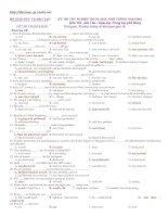 KỲ THI TỐT NGHIỆP TRUNG HỌC PHỔ THÔNG NĂM 2010 - EXERCISE 10 potx
