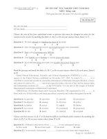 ĐỀ THI THỬ TỐT NGHIỆP THPT NĂM 2011 MÔN: Tiếng Anh - Mã đề thi 307 ppt