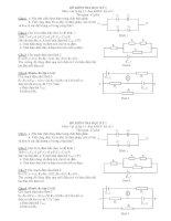 ĐỀ KIỂM TRA HỌC KỲ I Môn: Vật lý lớp 11 - Đề số 1 pptx