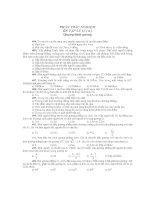 PHẦN TRẮC NGHIỆM ÔN TẬP LÝ 12 ( tt ) Quang hình gương doc