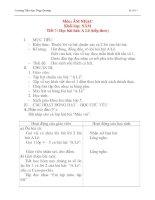 Giáo án âm nhạc lớp 4: Học bài hát: A Lê (tiết 2) pptx