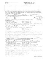 BÀI KIỂM TRA 1 TIẾT LẦN 1 Môn: Vật lý 11 (Nâng cao) pps