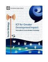the world bank group ict for greater development impact information communication technology