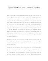 Một Vài Vấn Đề về Nhạc Cổ Truyền Việt Nam pptx