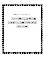 skkn how to deal with unfamiliar words in reading