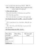 Giáo án nghề điện dân dụng THCS - Tiết 71: THỰC HÀNH : THÁO LẮP VÀ QUAN SÁT CẤU TẠO CỦA QUẠT pot