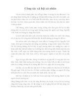 Báo cáo thực tập: Công tác xã hội cá nhân tại trường Nguyễn Viết Xuân (Cầu Giấy Hà Nội)