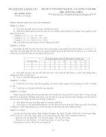 BỘ GIÁO DỤC VÀ ĐÀO TẠO ĐỀ CHÍNH THỨC (Đề thi có 2 trang) ĐỀ THI TUYỂN SINH doc