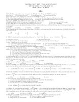ĐỀ THI MÔN VẬT LÝ LỚP 12 - ĐỀ 2 pdf
