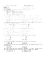 Kiểm tra trắc nghiệm THPT Đề thi Khối 12: Môn Vật Lý - Mã đề thi: 02 doc