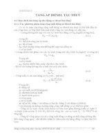 BÀI GIẢNG ĐỘNG CƠ DIESEL TÀU THUỶ - PHẦN 2 LÝ THUYẾT QUÁ TRÌNH CÔNG TÁC - CHƯƠNG 6 ppsx