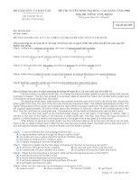Đề thi tuyển sinh sau đại học anh văn năm 2008 - mã đề 589 pptx