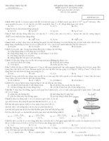 ĐỀ KIỂM TRA TRẮC NGHIỆM MÔN VẬT LÝ 12 NÂNG CAO - Mã đề thi 134 pptx