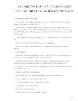 Điều trị nội khoa - CÁC PHƯƠNG PHÁP ĐIỀU TRỊ BẰNG ĐIỆN CÁC THỦ THUẬT TRONG HỒI SỨC TIM MẠCH pdf