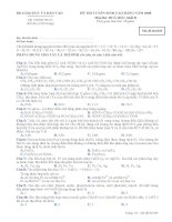 ĐỀ THI TUYỂN SINH CAO ĐẲNG NĂM 2008 Môn thi: SINH HỌC Mã đề thi 835 doc