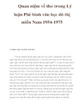Quan niệm về thơ trong Lý luận Phê bình văn học đô thị miền Nam 1954-1975 pot