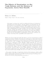 The effects of devaluation on the trade balance and the balance of payments