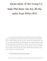 Quan niệm về thơ trong Lý luận Phê bình văn học đô thị miền Nam 1954-1975 pdf