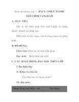 Giáo án tin học lớp 1 - BÀI 9: (THỰC HÀNH) TRÒ CHƠI TANGRAM potx