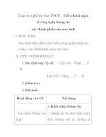 Giáo án nghệ tin học THCS - Tiết1: Khái niệm về công nghệ thông tin các thành phần của máy tính pptx