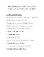 Giáo án điện dân dụng THPT - BÀI 1: GIỚI THIỆU GIÁO DỤC NGHỀ ĐIỆN DÂN DỤNG pps