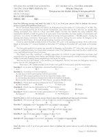 KỲ THI HỌC KỲ 2- NĂM HỌC 2010-2011 TRƯỜNG THCS-THPT NGÔ GIA TỰ Môn thi: Tiếng Anh docx