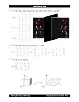Bài giảng đồ họa : CÁC PHÉP BIẾN ĐỔI 3 CHIỀU part 2 ppsx