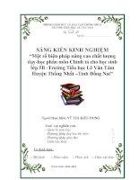 skkn một số biện pháp nâng cao chất lượng dạy - học phân môn chính tả cho học sinh lớp 5b –trường tiểu học lê văn tám