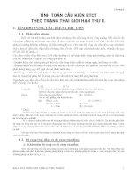 Kết cấu bê tông cốt thép : TÍNH TOÁN CẤU KIỆN BÊ TÔNG CỐT THÉP THEO TRẠNG THÁI GIỚI HẠN THỨ II part 1 potx