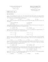 Kiểm tra trắc nghiệm THPT Đề thi Khối 12: Môn Vật Lý - Mã đề thi: 01 pot