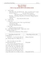 Giáo án âm nhạc lớp 4: Học bài hát: REO VANG BÌNH MINH pot