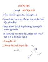 CƠ HỌC ỨNG DỤNG - PHẦN 2 ĐỘNG HỌC - CHƯƠNG 3 pdf
