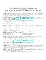 ĐỀ ÔN TẬP LUYỆN THI ĐẠI HỌC CAO ĐẲNG 2010 -2011 (ĐỀ SỐ 01) pot
