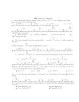 Kiểm tra vật lý 12 Nâng cao - Đề 4 ppsx