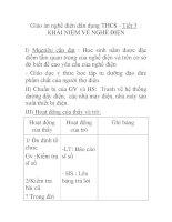Giáo án nghề điện dân dụng THCS - Tiết 3 : KHÁI NIỆM VỀ NGHỀ ĐIỆN pdf