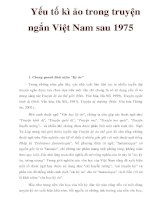Yếu tố kì ảo trong truyện ngắn Việt Nam sau 1975 ppsx