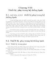 giáo trình hệ thống máy và thiết bị lạnh phần 8 pdf