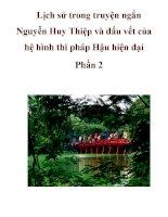 Lịch sử trong truyện ngắn Nguyễn Huy Thiệp và dấu vết của hệ hình thi pháp Hậu hiện đại Phần 2 potx