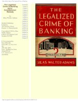The Legalized Crime of Banking and a constitutional remedy phần 1 ppsx