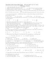 ĐỀ THI MÔN VẬT LÝ ĐỀ 1 - TRƯỜNG THPT PHAN BỘI CHÂU pdf