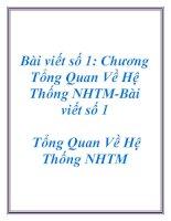 Bài viết số 1: Chương Tổng Quan Về Hệ Thống NHTM- Chương Tổng Quan Về Hệ Thống NHTM pptx