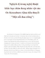 Nghịch dị trong nghệ thuật khắc họa chân dung nhân vật của Oe Kenzaburo (Qua tiểu thuyết
