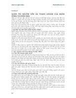 Giáo trình Quản trị ngân hàng - Chương 5 ppsx