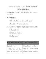 Giáo án tin học lớp 1 - BÀI 16: ÔN TẬP BÀN PHÍM MÁY TÍNH pdf
