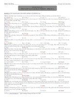 Bài tập chuyên đề vật lý : ôn tập vật lý hạt nhân - phần 2 docx