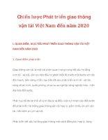 Chiến lược Phát triển giao thông vận tải Việt Nam đến năm 2020_1 doc