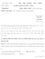ĐỀ THI KHẢO SÁT CHẤT LƯỢNG LỚP 12 LẦN 4 TRƯỜNG ĐẠI HỌC VINH TRƯỜNG pdf